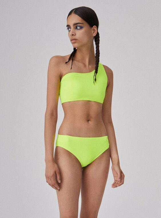 Women's Two Piece One Shoulder Swimming Set