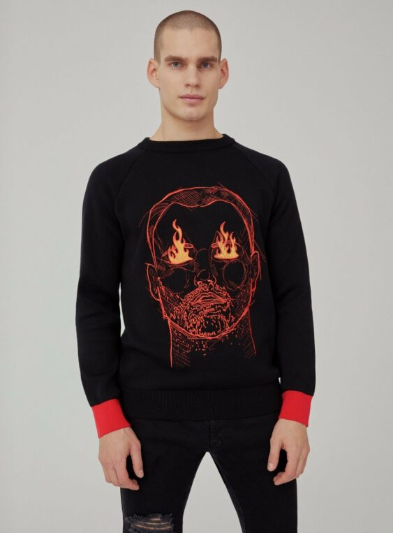 Men's Knit Motive Jumper