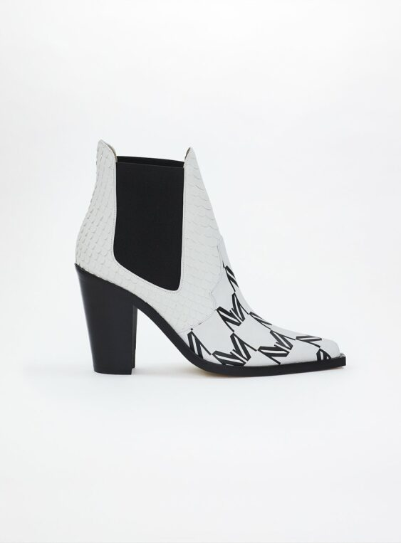 women's logo ankle boots